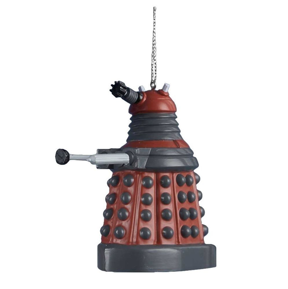 Doctor Who Red Robot Tank Christmas Tree Ornament Funny ...