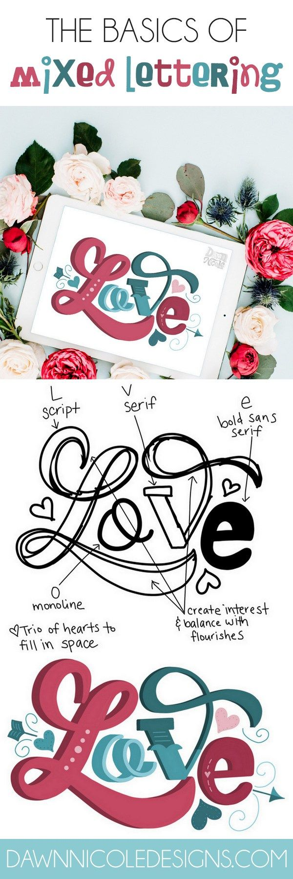 The Basics Of Creating Mixed Lettering Styles  Lettering Styles