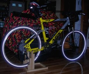 Natural Wood Indoor Bicycle Stand For Under 15 Usd Diy