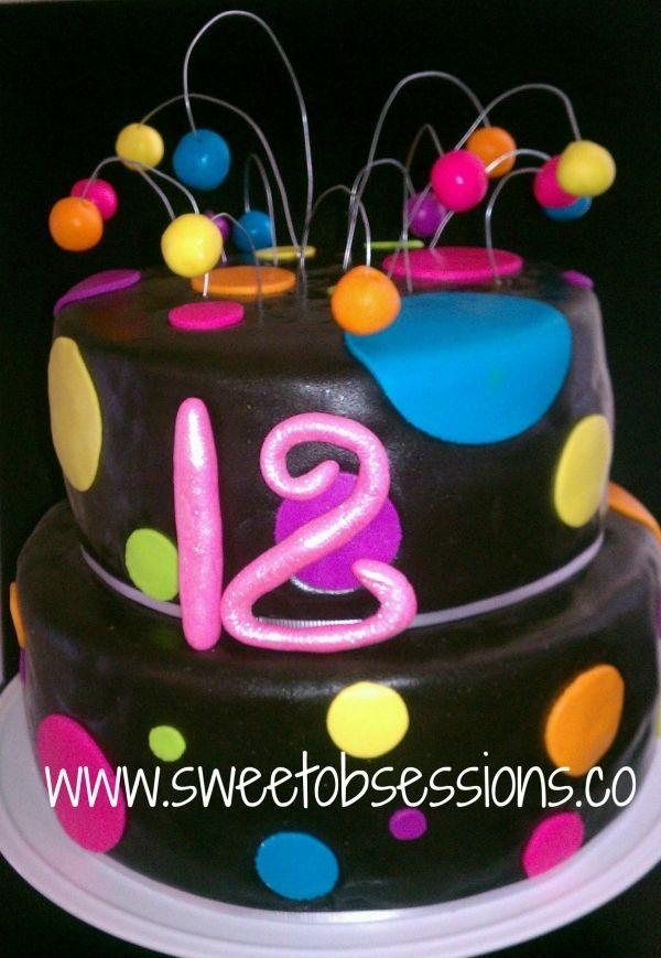 Neon Birthday Cake Cake Ideas Pinterest Neon Birthday Cakes - Neon birthday party cakes
