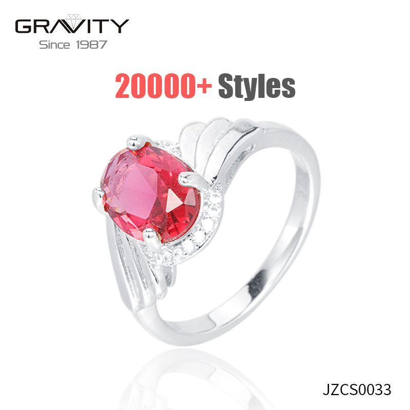 wholesale fashion latest design copper 18k white gold ring jewelry