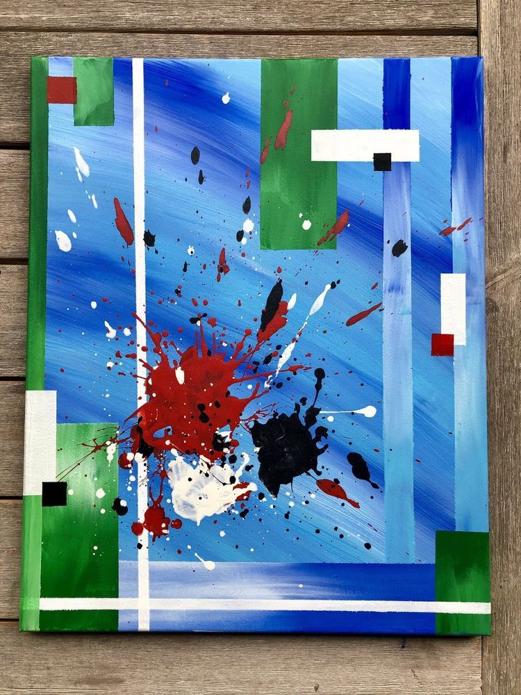 original abstract painting on canvas Acrylic - Painting ideas