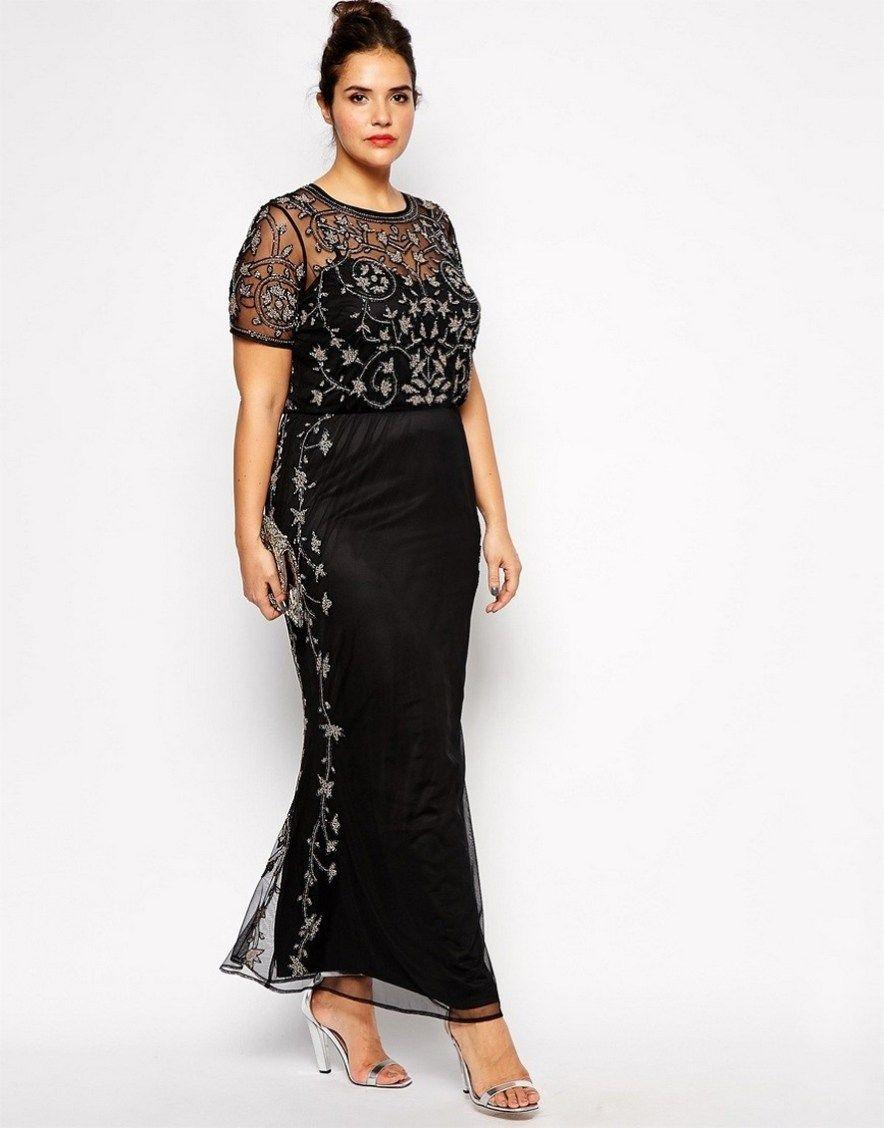 Gorgeous elegant black dress plus size ideas outfit style (7 ...
