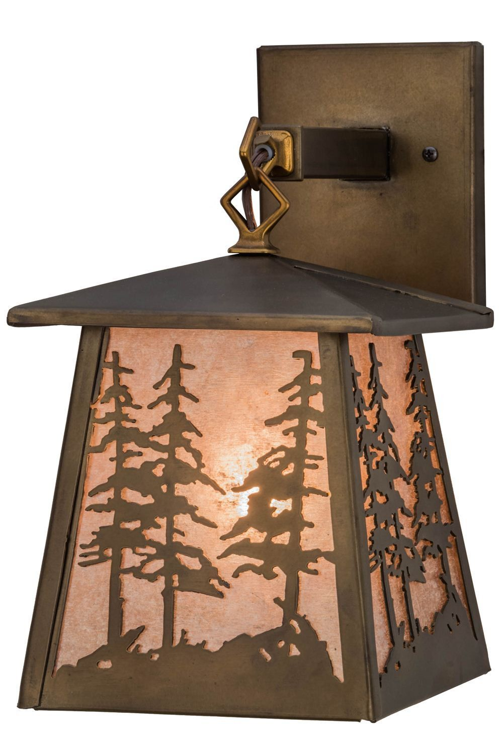 "Meyda 7""W Tall Pines Hanging Wall Sconce"