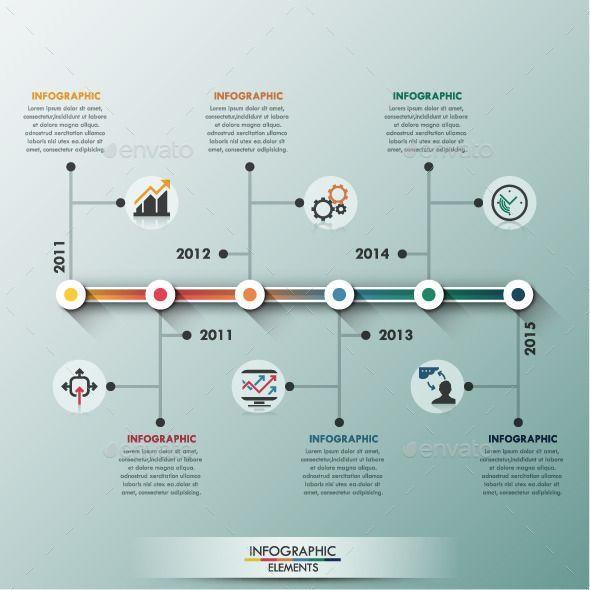 Business infographic  Modern Infographic Minimal Timeline - advertising timeline template