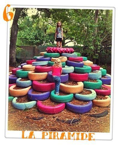 Neumaticos Reciclados Juegos Para Ninos Jardin Y Patio Pinterest