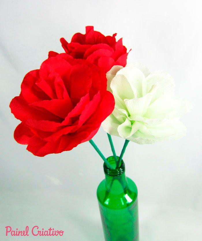 Eu Amo Artesanato Flores De Papel Crepom Flores De Papel Crepom