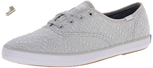 ad8c8b2e06530 Keds Women s Champion Eyelet Seasonal Solid Light Grey Sneaker 8 B - Medium  - Keds sneakers for women ( Amazon Partner-Link)