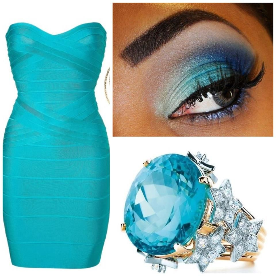 aqua blue dress make up ring | Gorgeous In Blue! | Pinterest ...