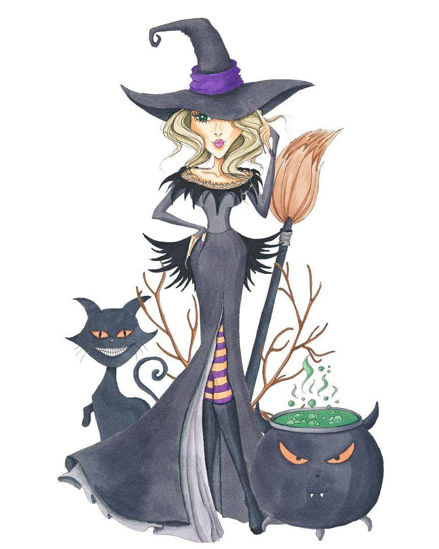 Прикольные картинки с ведьмами спасибо