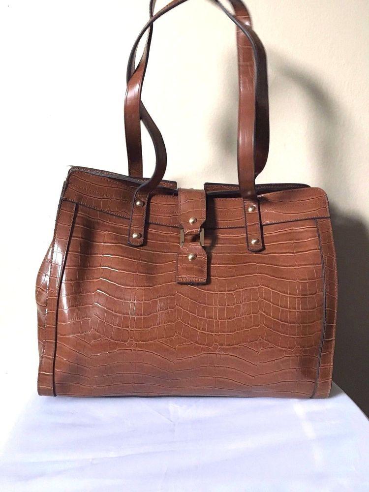 0cae115368 Bueno Brown Snake Skin Print Faux Leather Business Bag #Bueno #ShoulderBag