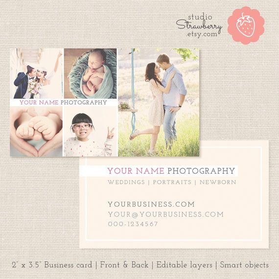 photography business card template 2 x 3 5 leave a lasting