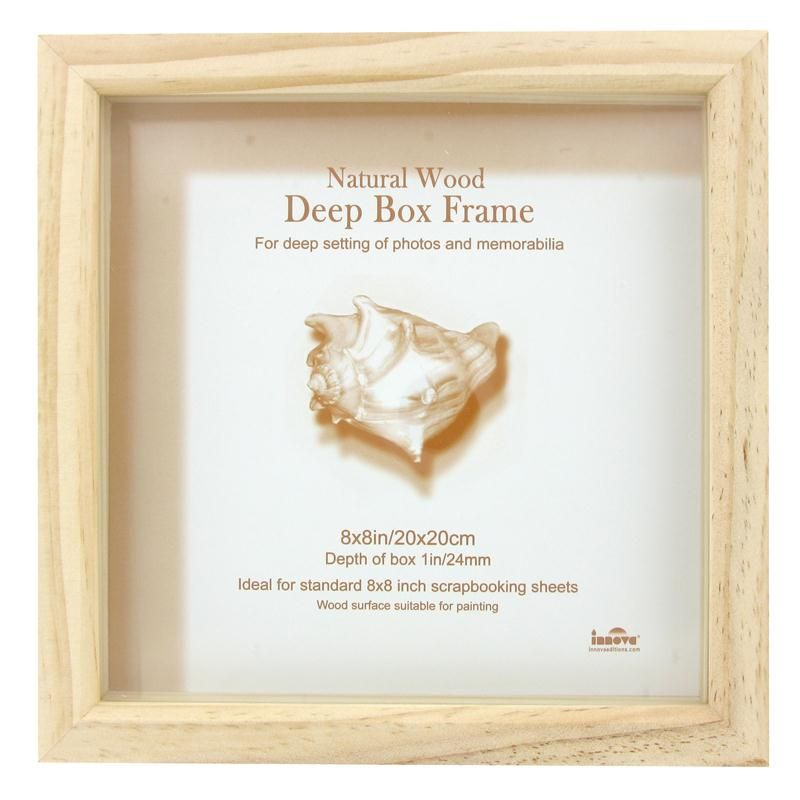 Pine Box Frame 20 x 20 cm | Deep box frames, Pine and Box