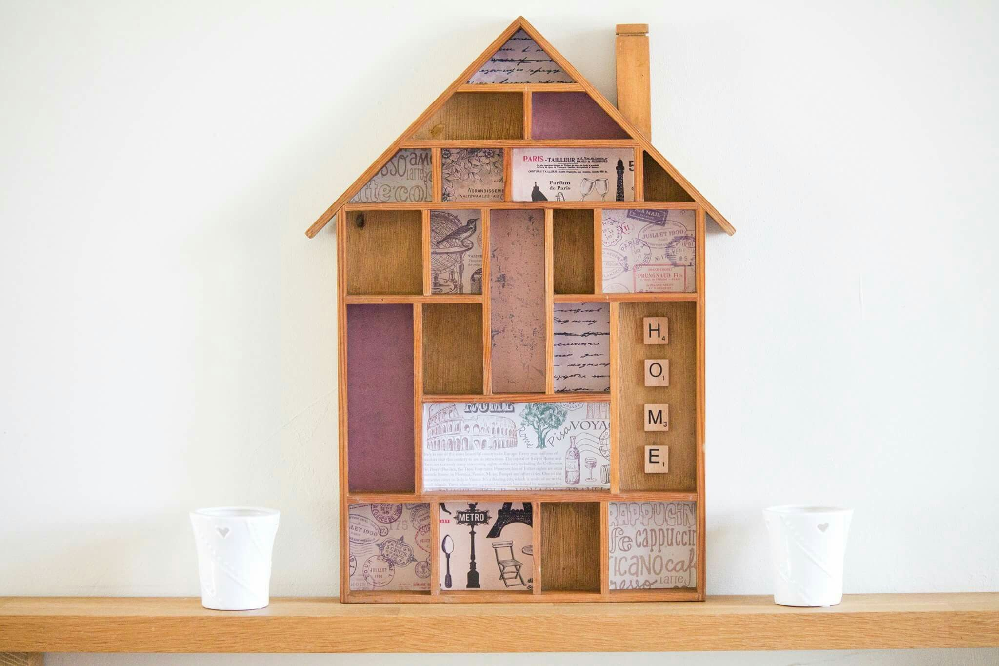 Upcycled Troika Hang House Shadow Box Display Frame Curios Miniature Display Shelves Miniature Display Frame Display Display Shelves