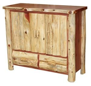 log rustic furniture amish. Amish Cedar Log Furniture TV Stand With Drawers Rustic