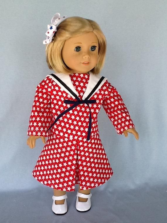 18 inch doll dress. Fits American Girl Dolls. Victorian style #dollvictoriandressstyles