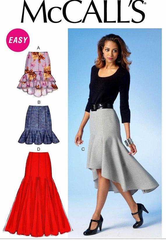 921a4619a7 High Low Skirt Pattern High Low Ruffle Skirt Pattern Flounce ...