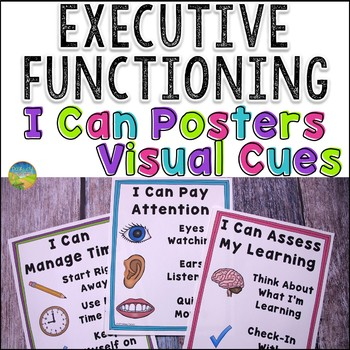 Executive Functioning Skills Posters With Visual Cues Executive Functioning Executive Functioning Skills Teaching Executive Functioning