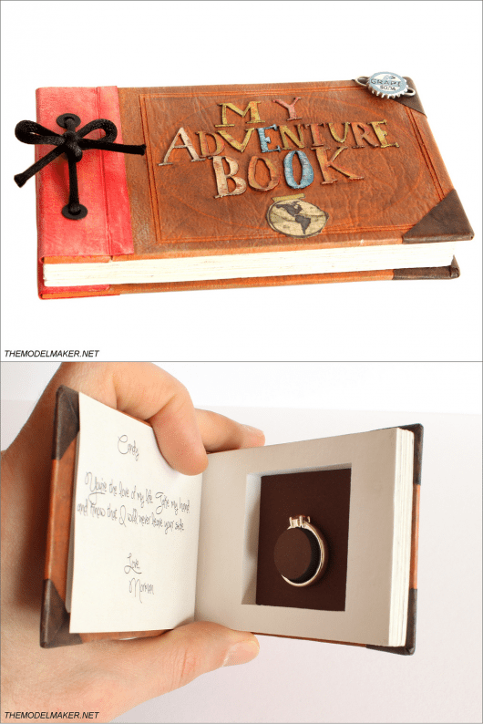 custom disney/pixar up inspired engagement ring box...adorable. No really this is what i want!! #howtogethimtopropose