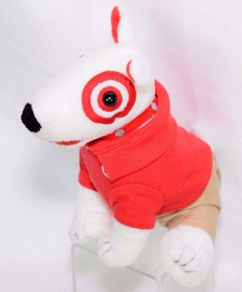 Target Bullseye Dog Plush Stuffed Animal Employee Outfit Office Desk