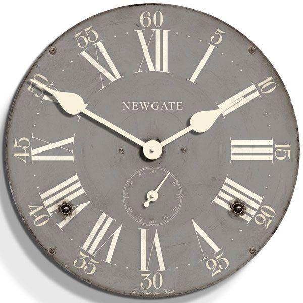 Newgate Kensington Wall Clock Overcoat Grey Wall Clock Design Contemporary Wall Clock Wall Clock