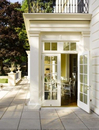 Bump Out With French Doors Amp Transoms Beautiful Exterior Trimwork Traditional House House