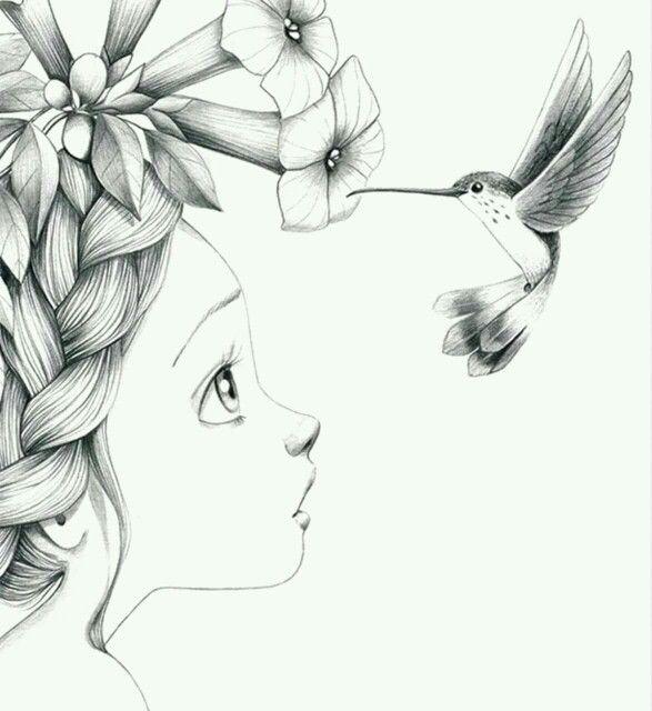 Pin De Agus Borghi En Dibujos P Dibujos Colibri Dibujo Bocetos