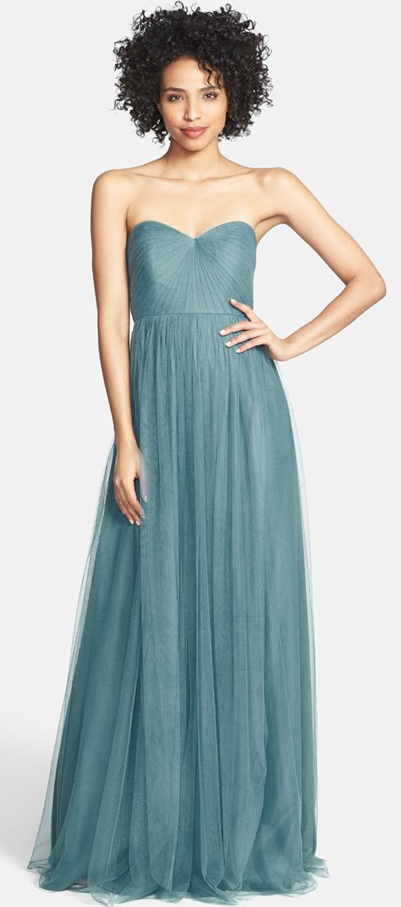 Dusty Teal Bridesmaid Dress Perfect For A Destinationwedding Luxdestweds