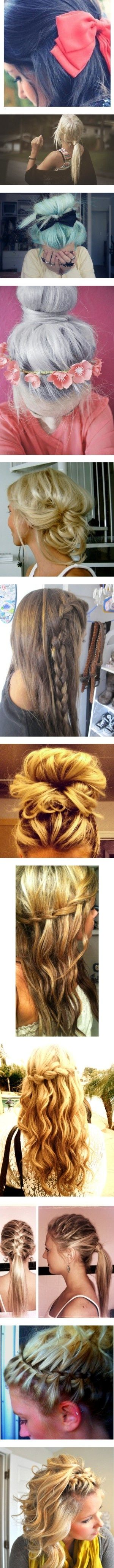 Pretty easy hairstyles hair and makeup pinterest easy