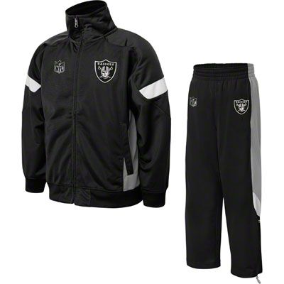 finest selection dc472 353a2 Oakland Raiders Kids 2 Piece Performance Track Jacket & Pant ...