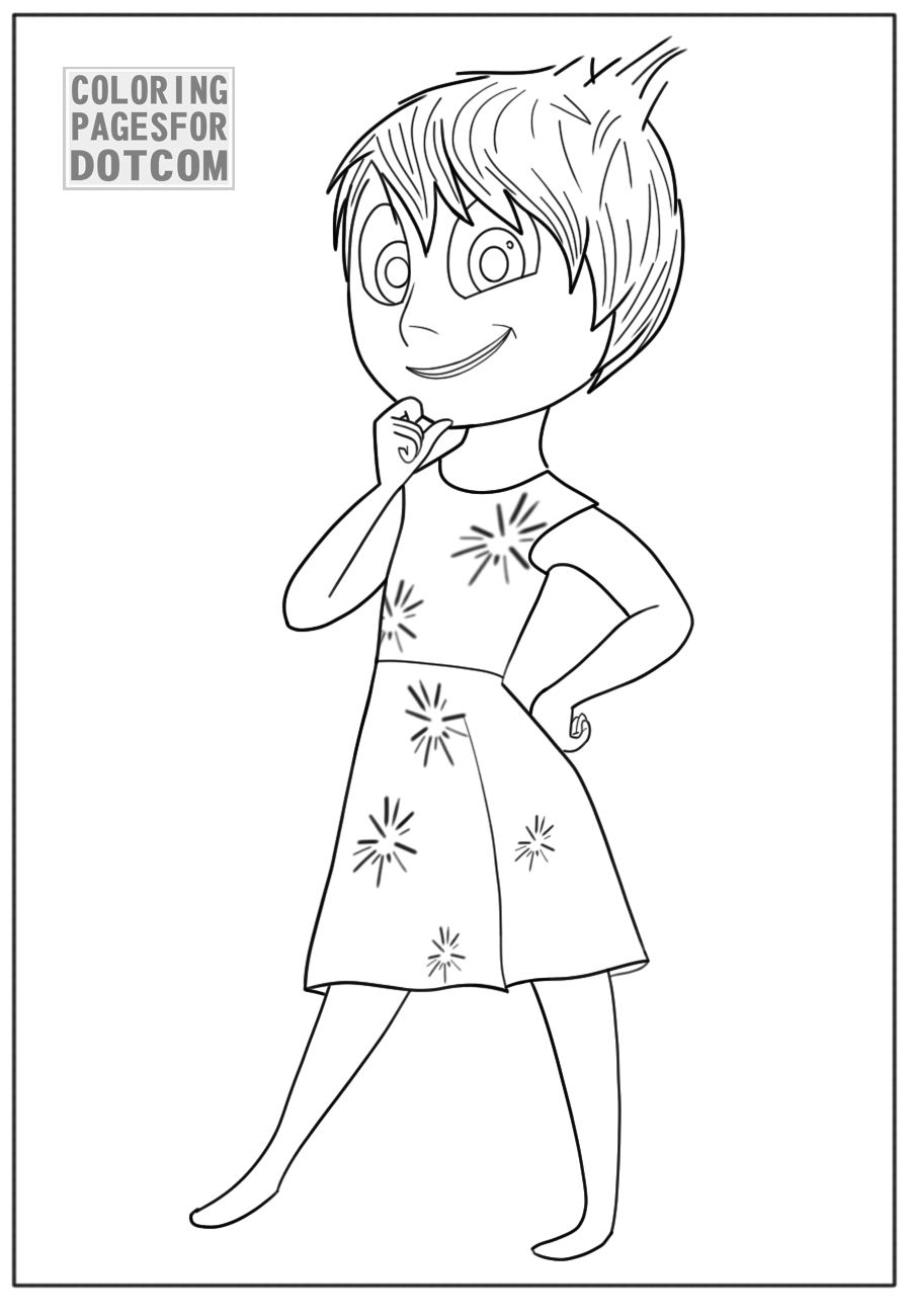 Inside out coloring pages - Disney Coloring Pages Inside Out Is Latest Animation Movie Created By Disney I Hope