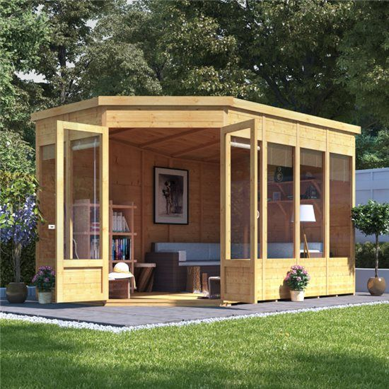 Billyoh Renna Tongue And Groove Corner Summerhouse Garden Buildings Direct In 2020 Summer House Garden Corner Summer House Garden Buildings Direct