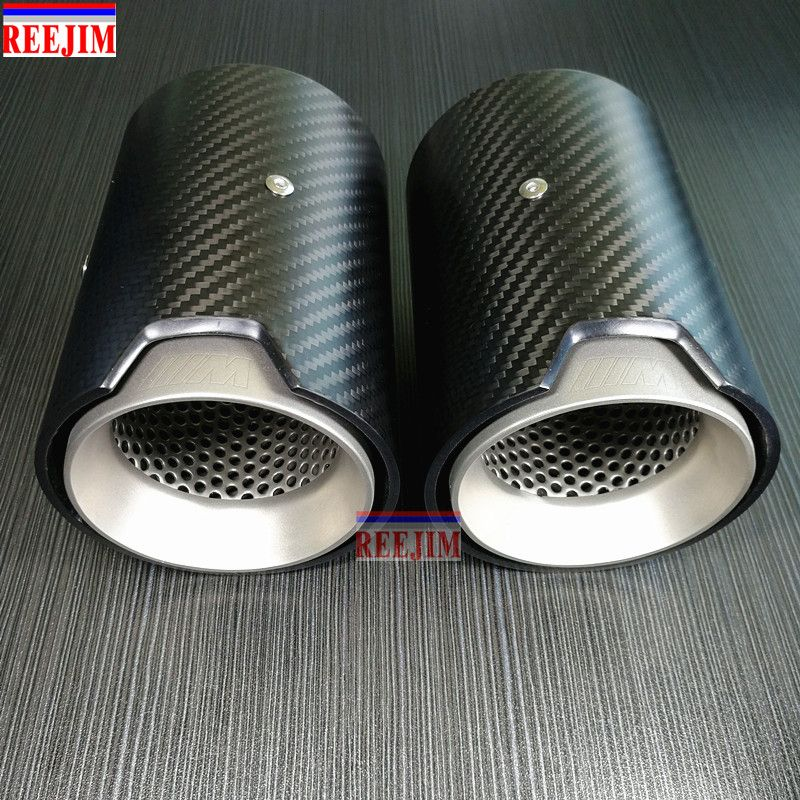 1 Piece Real Carbon Fiber Exhaust tip For BMW M Performance exhaust