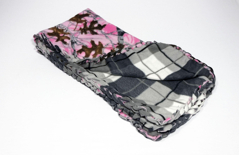 Pink camo fleece blanket fleece no sew blanket pink camo baby