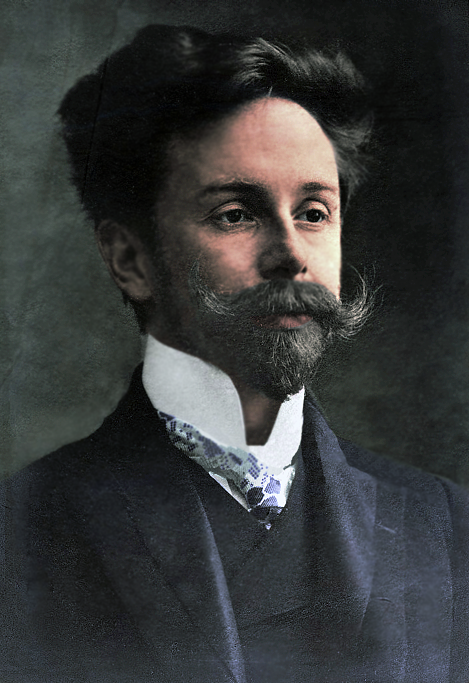 colorized // Alexander Scriabin was a Russian composer and