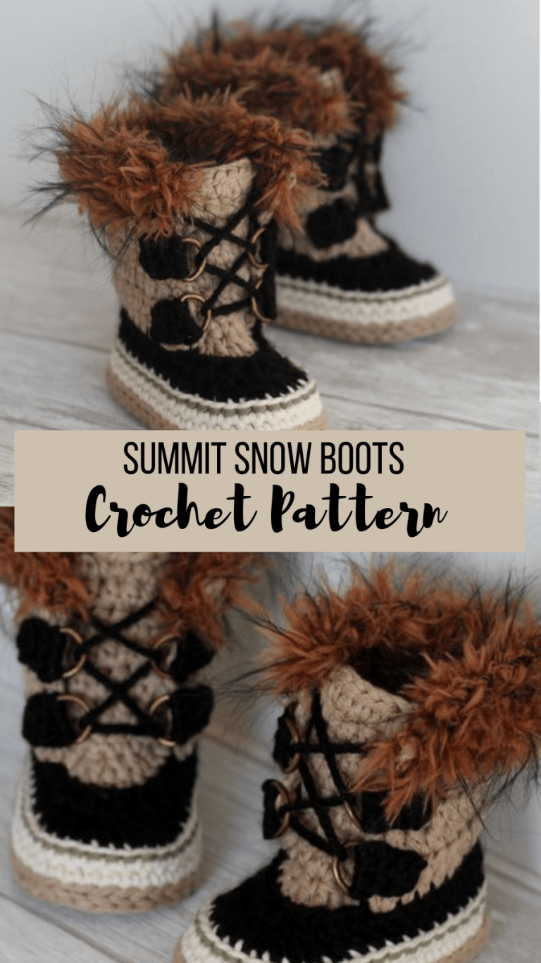 Cutest Crochet Baby Boots Pattern #crochetbabyshoes