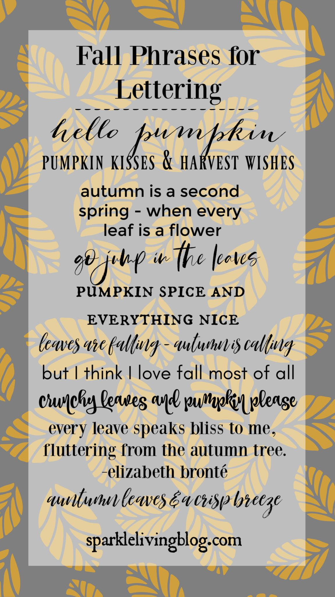 Use These Fall Phrases For All Your Calligraphy Brushlettering