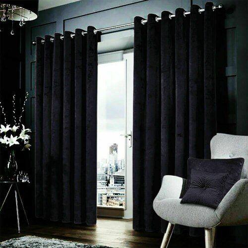Willa Arlo Interiors Crushed Velvet Eyelet Room Darkening Curtains