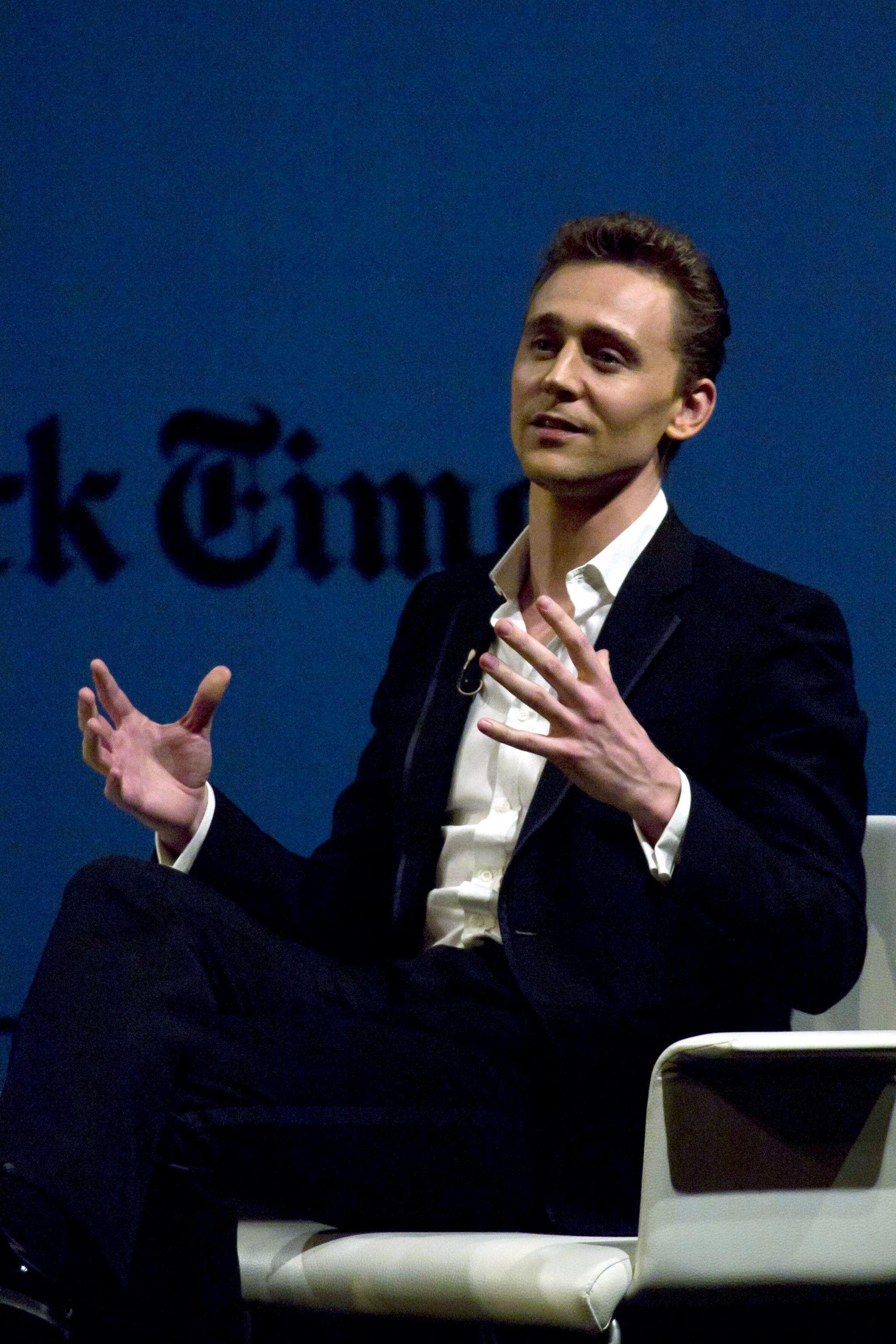 Tom Hiddleston. Times Talks Madrid. 2012. Via Torrilla.