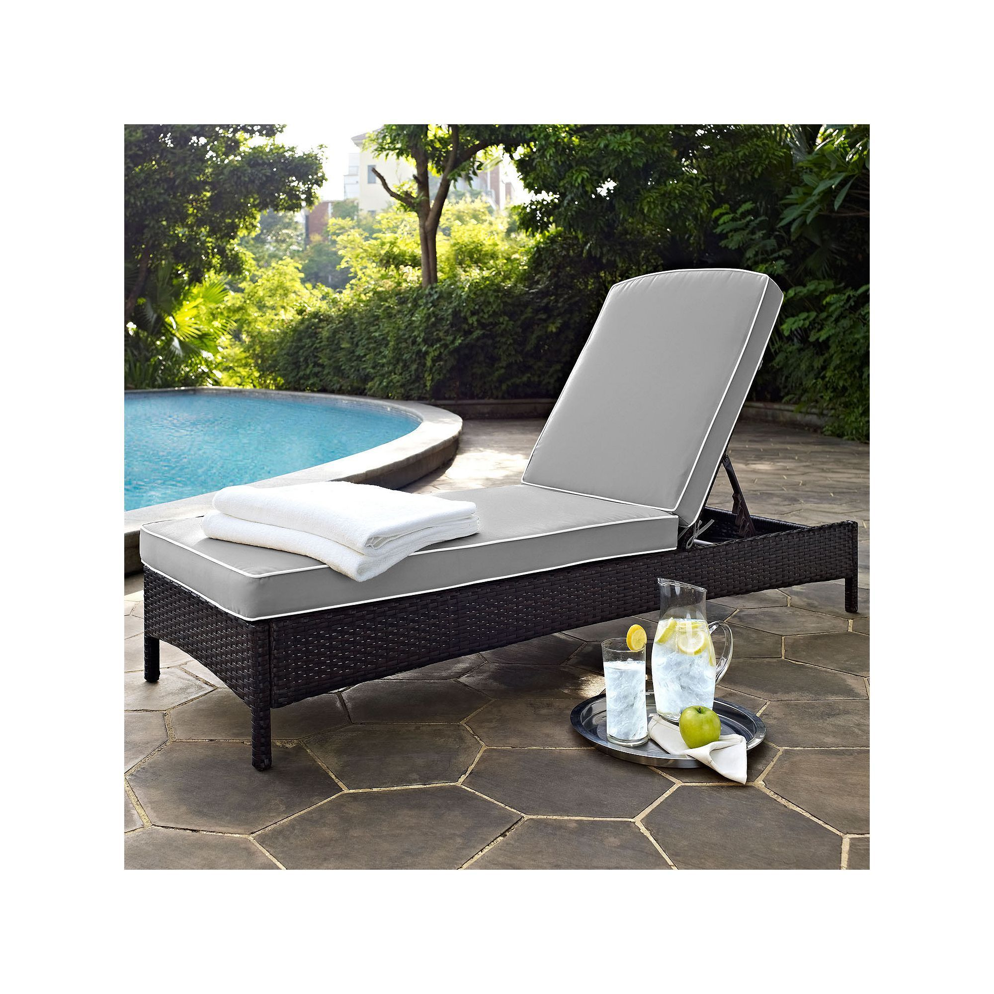 Outdoor Crosley Furniture Palm Harbor Patio Chaise Lounge Chair