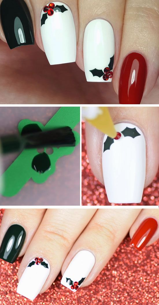 16 Easy Diy Christmas Nail Designs For Kids Pinterest Holiday