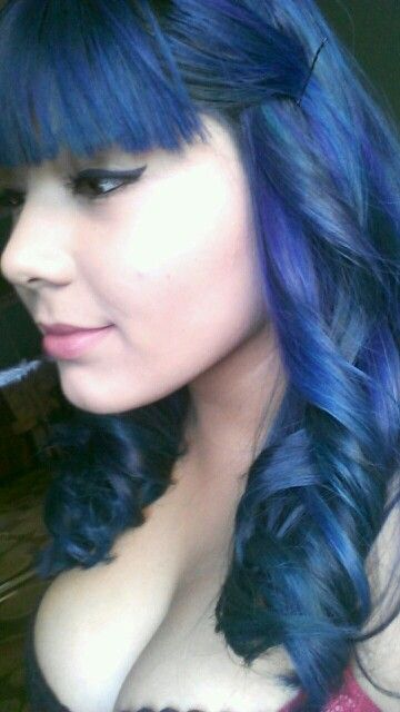 manic panic after midnight blue hair - Midnight Blue Black Hair Color