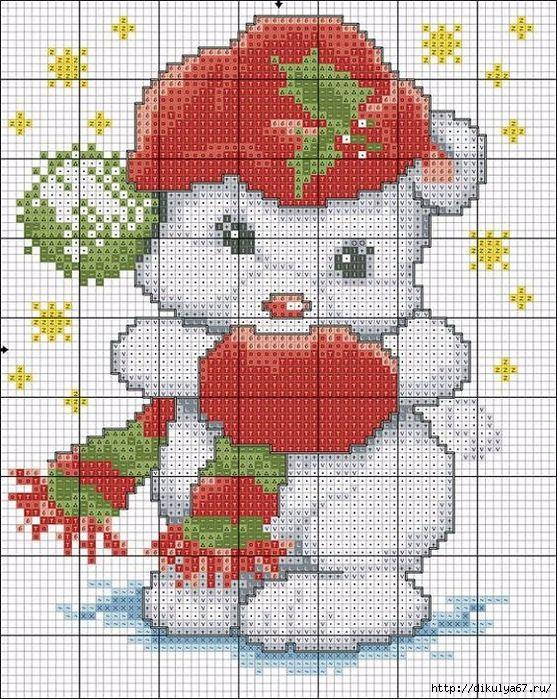 Новогодние картинки вышивки крестиком, сделать открытке