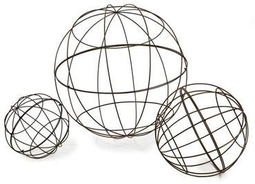 Delightful Extra Large Iron Garden Sphere Each Size Sold Individually Also Available  In Other Sizes: Large