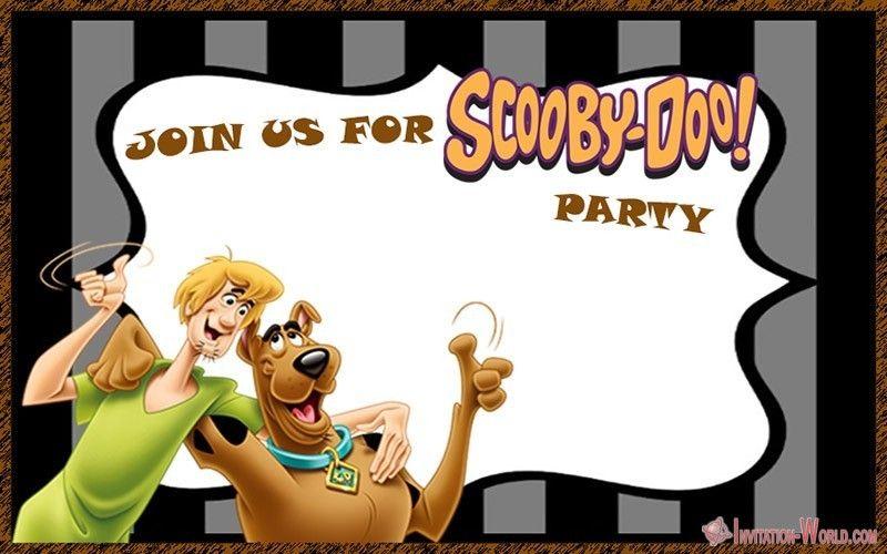 scooby doo birthday invitation blank