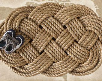 Large Rope Doormat Nautical Sailor S Ocean Plait Celtic Knot Rug