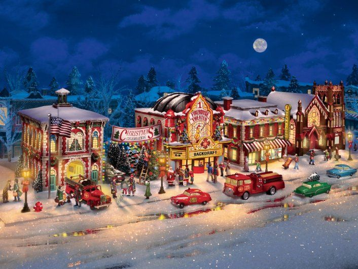 Firefighter Christmas Village Collection | Christmas Villages ...