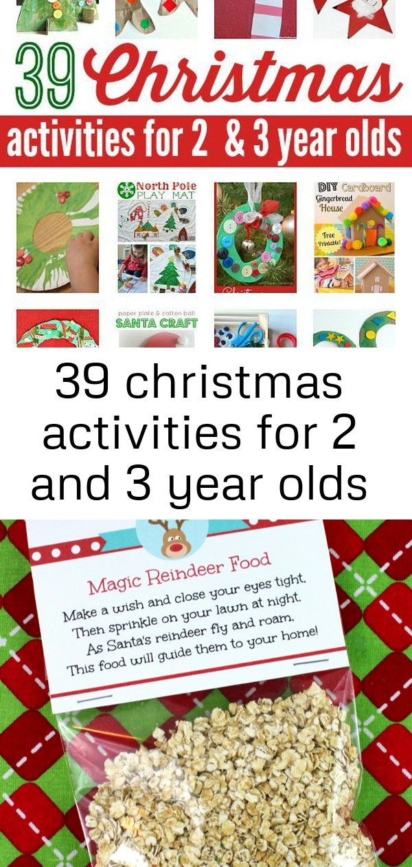 39 christmas activities for 2 and 3 year olds #reindeerfoodrecipe