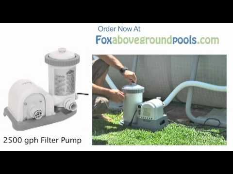 1 Intex 2500 Gph Pool Filter Pump 56633e Set Up Video Instructions
