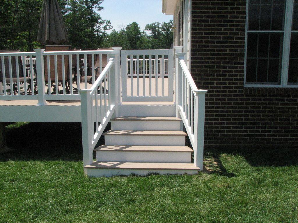 Best Azek Slate Grey Flared Deck Steps And Longevity White Pvc 400 x 300